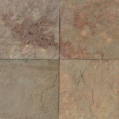 Natural Stone Collection China Apricot 12 in. x 12 in. Slate Floor and Wall Tile (10 sq. ft. / case)