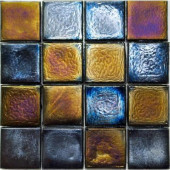 Edgewater Outer Banks Glass Mosaic & Wall Tile - 5 in. x 5 in. Tile Sample-DISCONTINUED