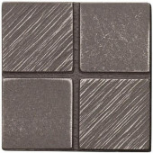 2 in. x 2 in. Cast Metal Mosaic Dot Brushed Nickel Tile (10 pieces / case) - Discontinued