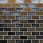 Edgewater Outer Banks 1 in. x 2 in. 10-5/8 in. x 10-5/8 in. Glass Floor & Wall Mosaic Tile-DISCONTINUED