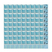 Sonterra Glass Light Blue Iridescent 12 in. x 12 in. x 6mm Glass Mosaic Wall Tile (10 sq. ft. / case)-DISCONTINUED