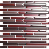 Color Blends Especia-1603-S Gloss Strips Mosaic Glass Mesh Mounted Tile - 4 in. x 4 in. Tile Sample-DISCONTINUED