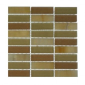 Contempo Hampton Blend 1/2 in. x 2 in. Marble And Glass Tile Sample-DISCONTINUED