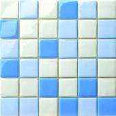 12.5 in. x 12.5 in. Capri Azzurro Mix Glossy Glass Tile-DISCONTINUED