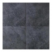 Continental Slate Asian Black 18 in. x 18 in. Porcelain Floor and Wall Tile (18 sq. ft. / case)