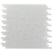 Windsor Random Bright White 12 in. x 12 in. x 8 mm Marble Floor and Wall Tile