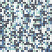 12.8 in. x 12.8 in. Venice Caribbean Mix Frosted Glass Tile-DISCONTINUED