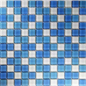 Oceanz Atlantic Mosaic Glass Mesh Mounted Tile -3 in. x 3 in. Tile Sample-DISCONTINUED